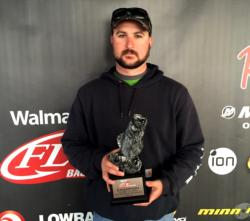 Co-angler Jared West of Mont Belvieu, Texas, won the Feb. 28  Cowboy Division event on Sam Rayburn with just four bass weighing 21 pounds, 6 ounces. For his efforts, West was awarded over $2,600.