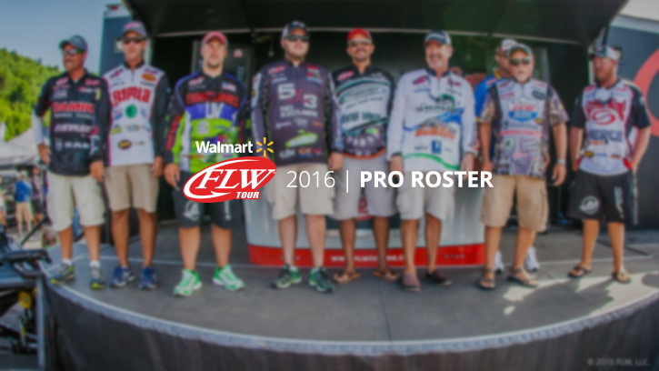 Image for 2016 Walmart FLW Tour Pro Roster