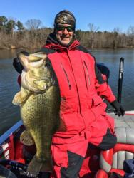 Brent Barnes of Chattanooga, Tennessee, caught the biggest bass of the tournament in the pro division, a mammoth largemouth weighing 11 pounds, 3 ounces.