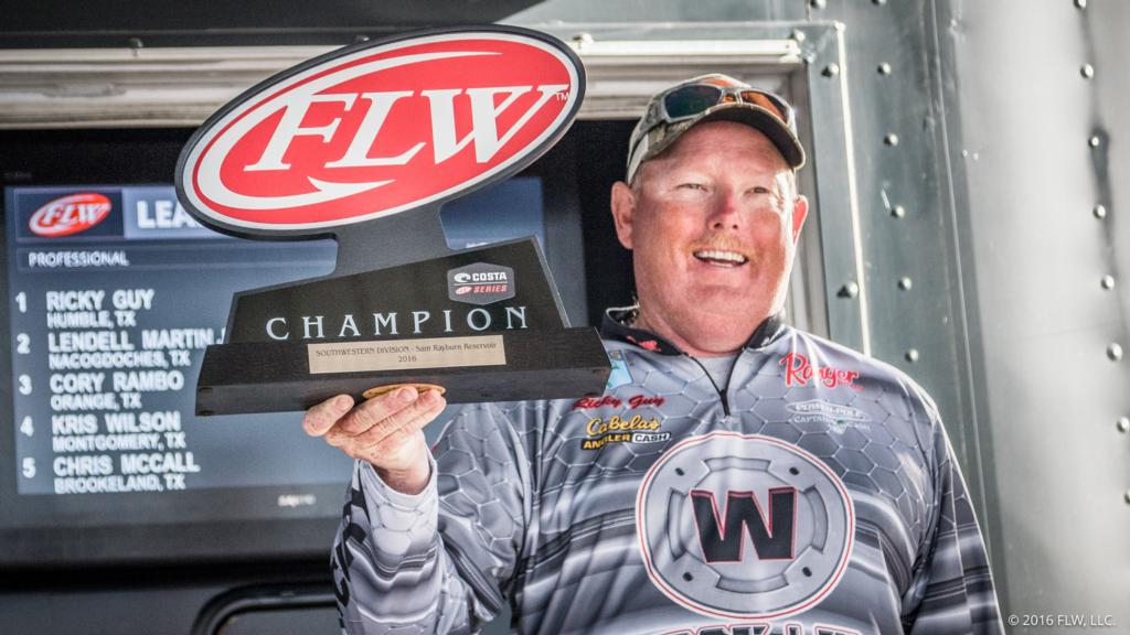 Image for Guy Wins Costa FLW Series Southwestern Division Opener on Sam Rayburn Reservoir Presented By Mercury