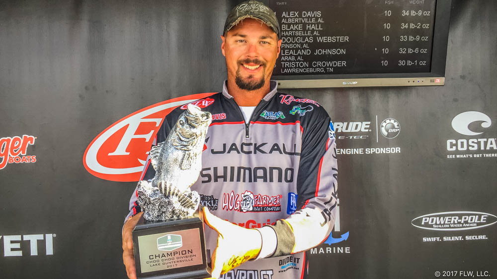 Image for Davis Wins T-H Marine FLW Bass Fishing League Choo Choo Division Finale on Lake Guntersville Presented by Mud Hole Custom Tackle