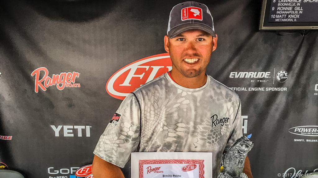 Image for Indiana's Sisk Goes Wire-to-Wire, Wins T-H Marine FLW Bass Fishing League Regional Tournament on Kentucky Lake Presented by Evinrude