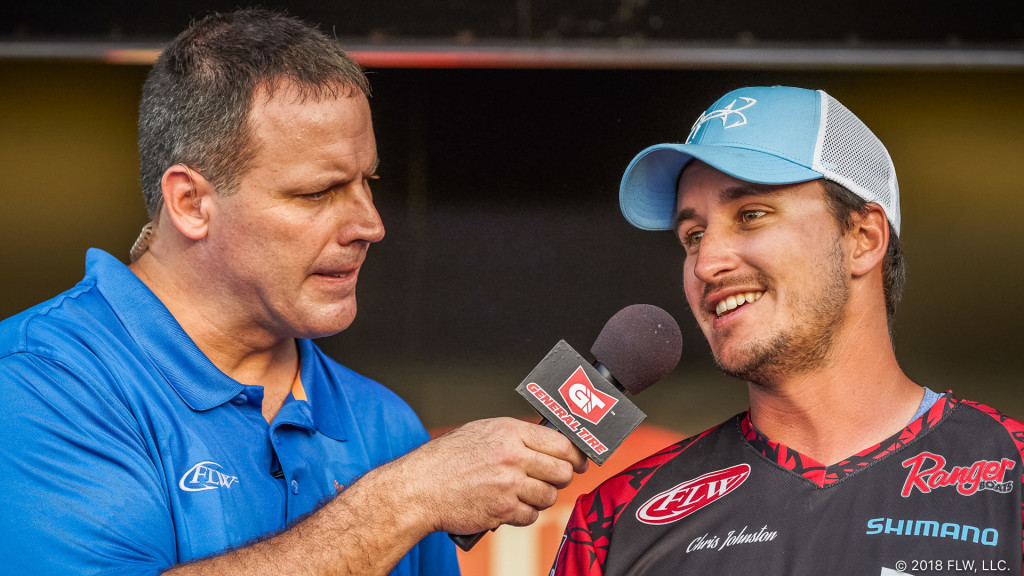 Image for Canada's Johnston Maintains Lead after Day Three of FLW Tour at Harris Chain of Lakes Presented by Lowrance