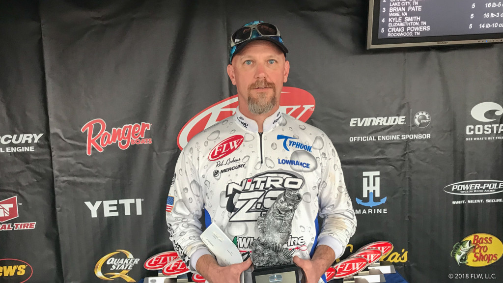 Image for Rogersville's Linkous Wins T-H Marine FLW Bass Fishing League Volunteer Division Opener on Norris Lake presented by Navionics