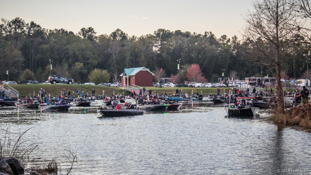 Image for Two Boats Collide at Costa FLW Series at Lake Seminole