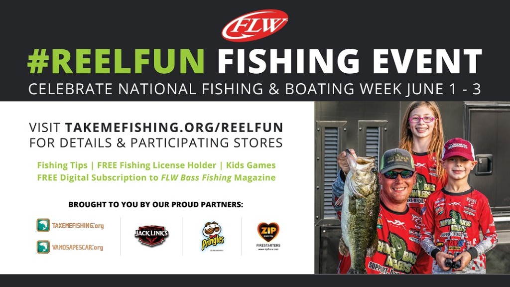 Image for FLW Teams with Walmart and Take Me Fishing™ to Kick Off National Fishing and Boating Week with #REELFUN Fishing Events at 2,000 Walmart Locations