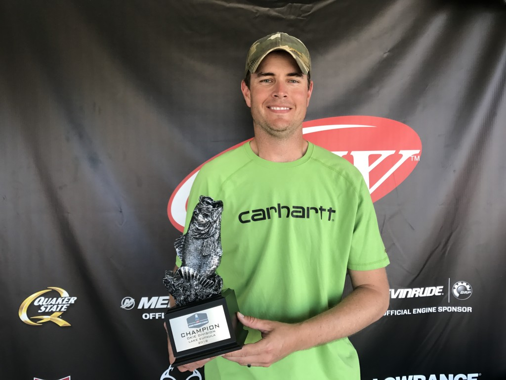 Image for Weleetka's Johnson Wins T-H Marine FLW Bass Fishing League Okie Division Event at Lake Eufaula