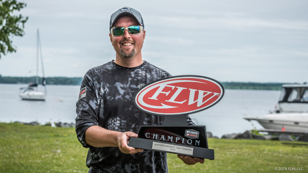 Image for Michigan's Nelson Wins Second Straight Costa FLW Series Northern Division Opener on Lake Champlain Presented by Power-Pole