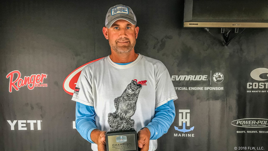Image for Byrdstown's Reagan Wins T-H Marine FLW Bass Fishing League Mountain Division Finale on Barren River