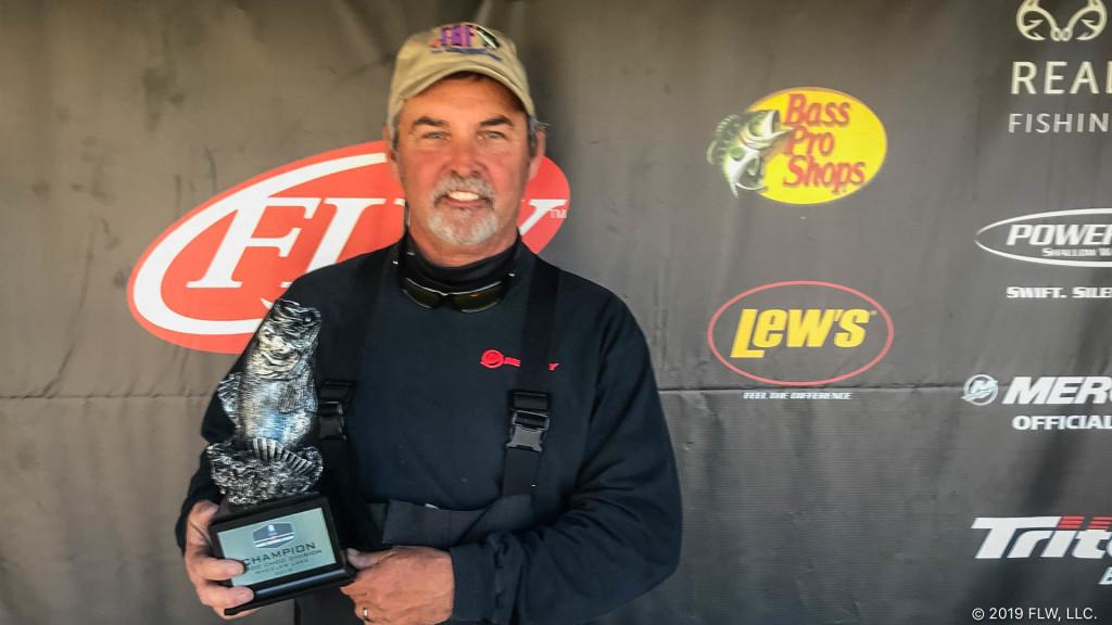 Image for Lawrenceburg's Jewell Wins T-H Marine FLW Bass Fishing League Choo Choo Division Tournament on Wheeler Lake