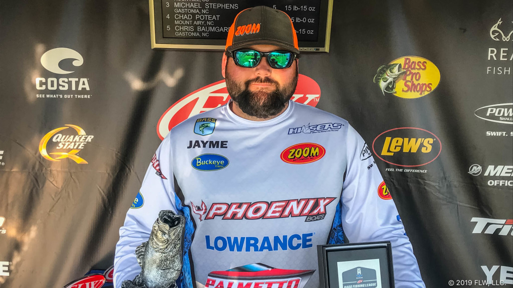 Image for Rampey Wins T-H Marine FLW Bass Fishing League Tournament on Lake Wylie