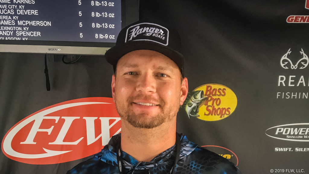 Image for Georgetown's Morrison Wins T-H Marine FLW Bass Fishing League Tournament on Lake Cumberland