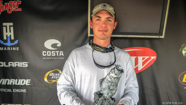 Co-angler Jonathan Carter
