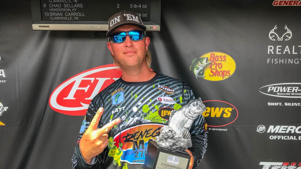 Image for Kuttawa's Robertson Wins Two T-H Marine FLW Bass Fishing League Tournaments on Kentucky Lake in Same Weekend