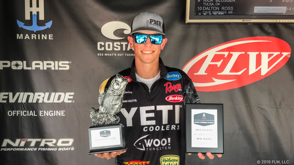Image for Bowling Wins T-H Marine FLW Bass Fishing League Tournament on Broken Bow Lake