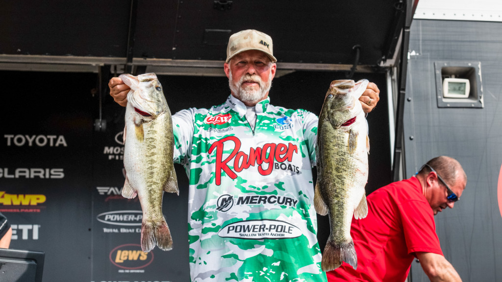 Image for California's Salewske Leads Day One of Tackle Warehouse Pro Circuit at Harris Chain of Lakes presented by Bad Boy Mowers